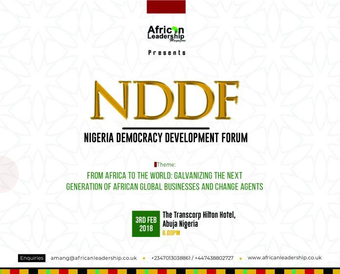 The Nigeria Democracy & Development Forum – NDDF – 2019
